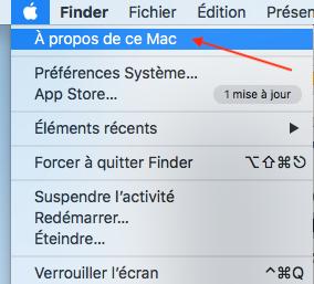 à propos de ce Mac macOS